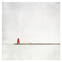 Meet Me at the Red Lighthouse Fine Art Print
