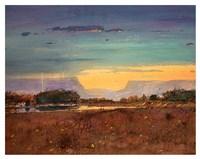 Lightning at Sunset Fine Art Print