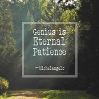 Genius is Eternal Patience - Forest Fine Art Print