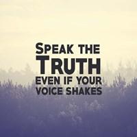 Speak The Truth - Yellow Fine Art Print