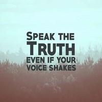 Speak The Truth - Blue Fine Art Print
