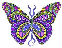 Bashful Garden Butterfly Blooming Fine Art Print