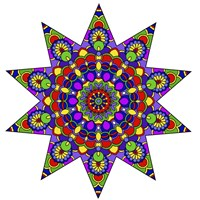 Being Silly Mandala Colored Fine Art Print