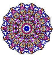 Bubbles Mandala Overflowing Fine Art Print