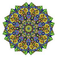 Colorful Calming Mandala Fine Art Print