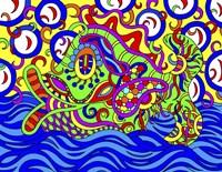 Freddy the Fish Swimming Fine Art Print