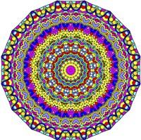 Hearts Mandala Glowing Fine Art Print