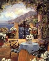 Seaside Terrace Fine Art Print