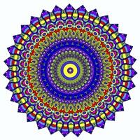 Nights Mandala in Blue Fine Art Print