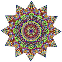 Sparkling Sunny Day Mandala Fine Art Print