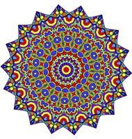 Stars Mandala Beautified Fine Art Print