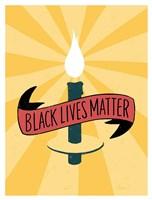 Black Lives Matter - Candle Fine Art Print