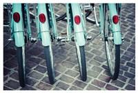 Bicycle Line Up 1 Fine Art Print