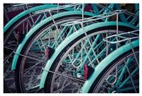 Bicycle Line Up 2 Fine Art Print