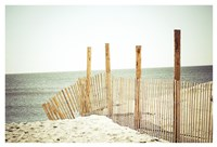 Wooden Beach Fence Fine Art Print