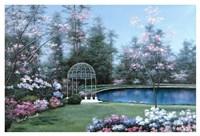Lakeside Gazebo Fine Art Print