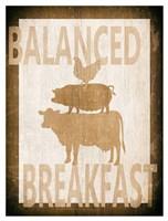 Balanced Breakfast Two Fine Art Print