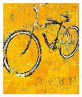 Gold Bike Fine Art Print