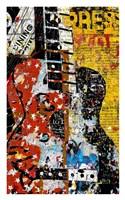 Graffiti Guitar Fine Art Print