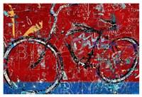 Red Graffiti Bike Fine Art Print