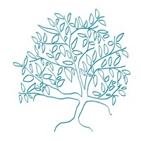A Teal Tree Fine Art Print