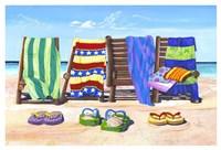 Sandals and Seats Fine Art Print