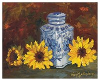 Blue and White Vase Fine Art Print