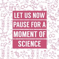 Let Us Now Pause For A Moment of Science - Pink Fine Art Print