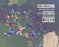 Together We Are An Ocean - Skydiving Team Color Fine Art Print