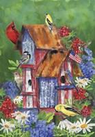 Patriotic Birdhouse Fine Art Print