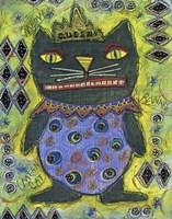 Black Cat Queen Fine Art Print