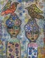Flower Girls Fine Art Print