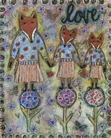 Fox Family Fine Art Print