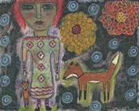 Girl With Fox Fine Art Print