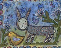 Rabbit With Chick Fine Art Print