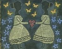 Silhouette Girls Fine Art Print