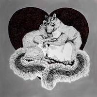Squirrel Love Fine Art Print