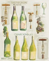 White Wine Collage on White Fine Art Print