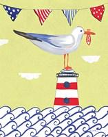 Coastal Bird I Flags Fine Art Print