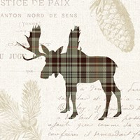 Plaid Lodge IV Tan Fine Art Print