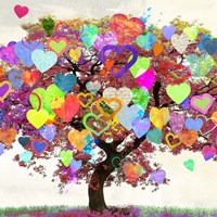 Tree of Love (detail) Fine Art Print