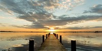 Morning Lights on a Jetty (detail) Fine Art Print