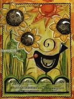 Sunshine And Sunflowers Fine Art Print