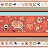 Boho Chic Rust VII Fine Art Print