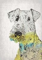 Abstract Dog III Fine Art Print