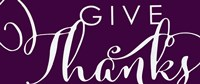 Give Thanks Plum Fine Art Print