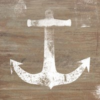 White Anchor on Natural Fine Art Print