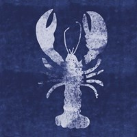 Indigo Lobster II Fine Art Print