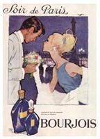Soir de Paris Bourjois in White Fine Art Print