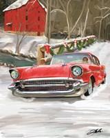 57 Chevy Christmas Fine Art Print